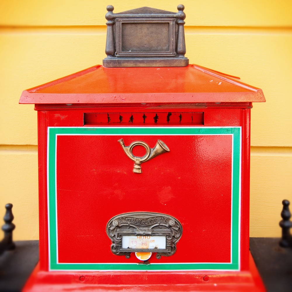 A post box in Budapest